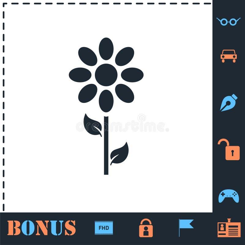 Kwiat ikony mieszkanie royalty ilustracja