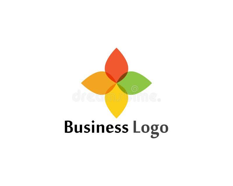 kwiat ikony projekta loga wektorowy ilustracyjny szablon ilustracja wektor
