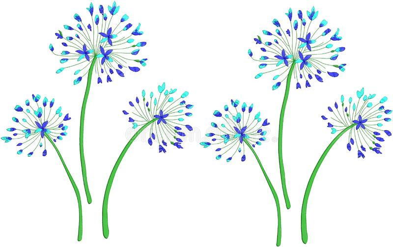 kwiat ilustraci wzór w prostym tle obraz stock