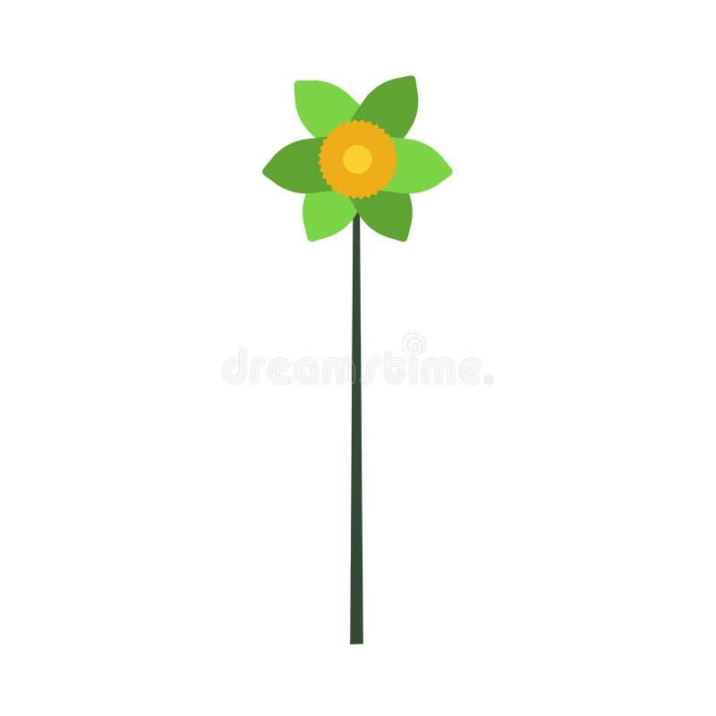 Kwiat kwiecistej wektorowej ikony projekta ilustracyjna sztuka Natura liścia okwitnięcia zieleń odizolowywająca Botaniczna roślin royalty ilustracja