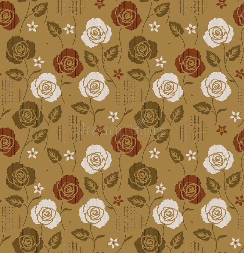 kwiat kwiecisty wz?r bezszwowy royalty ilustracja