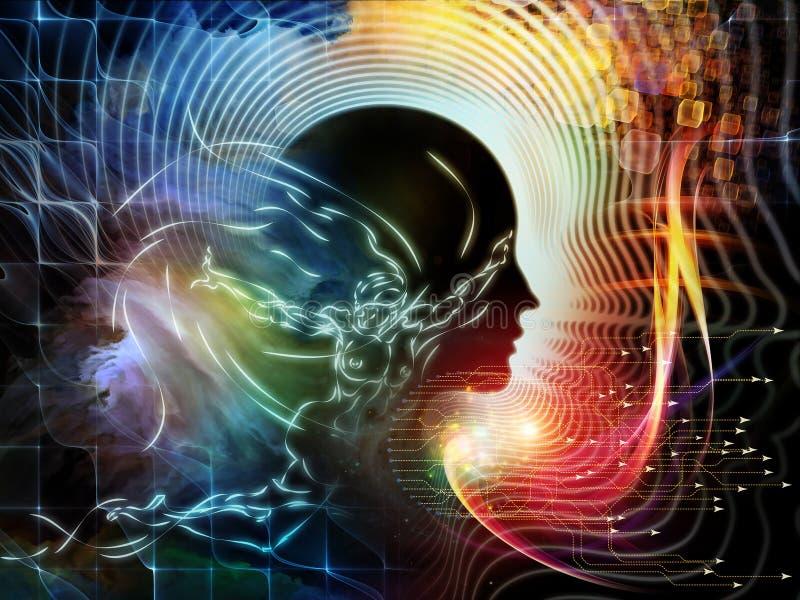 Kwiat ludzki umysł ilustracji