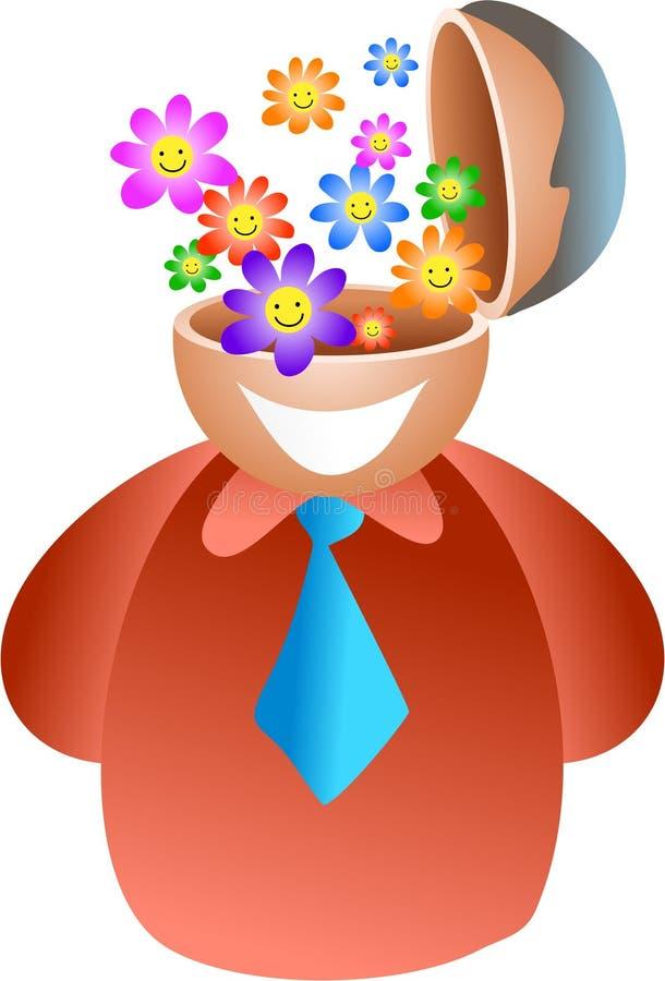 kwiat mózgu ilustracji