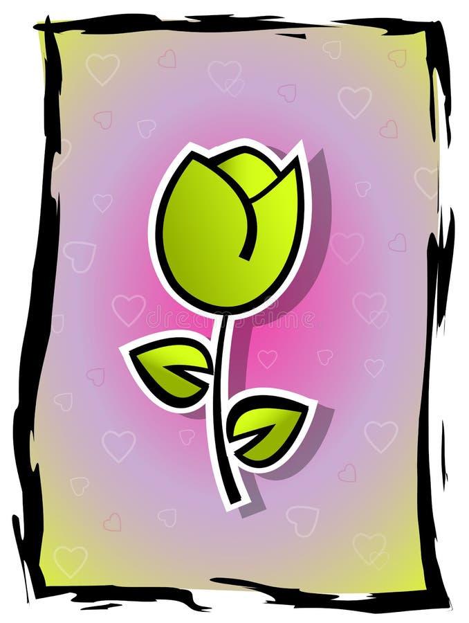 Download Kwiat miłość ilustracji. Ilustracja złożonej z tulipan - 28955296