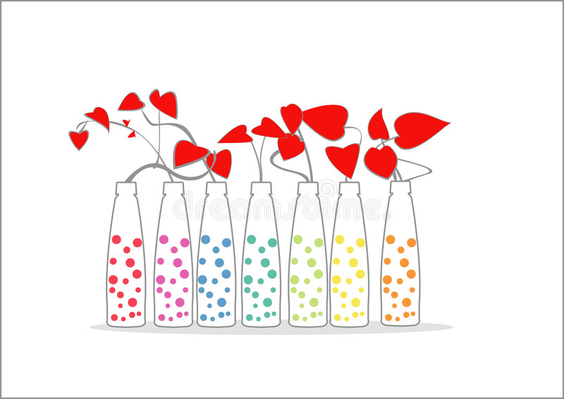 kwiat miłości royalty ilustracja