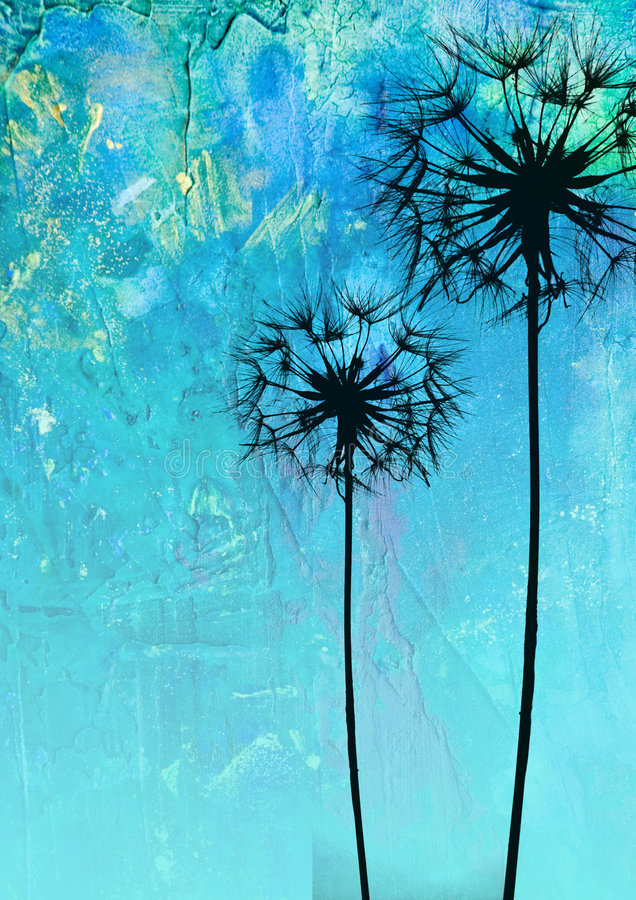 kwiat mniszek ilustracja ilustracji
