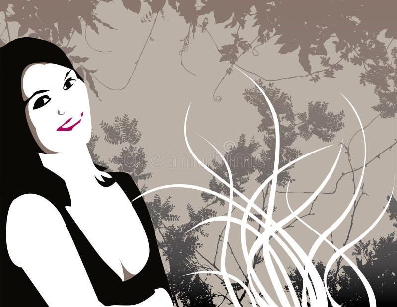 kwiat obrazkowa kobieta ilustracja wektor