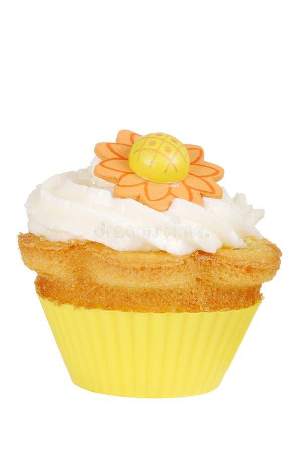 Kwiat odosobniona żółta babeczka obrazy royalty free