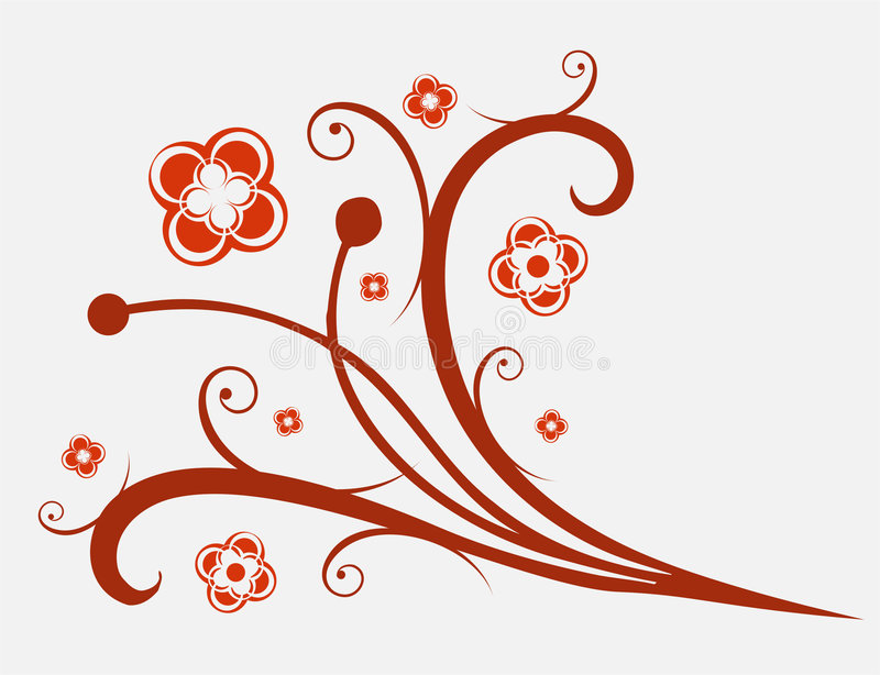 kwiat ornament royalty ilustracja