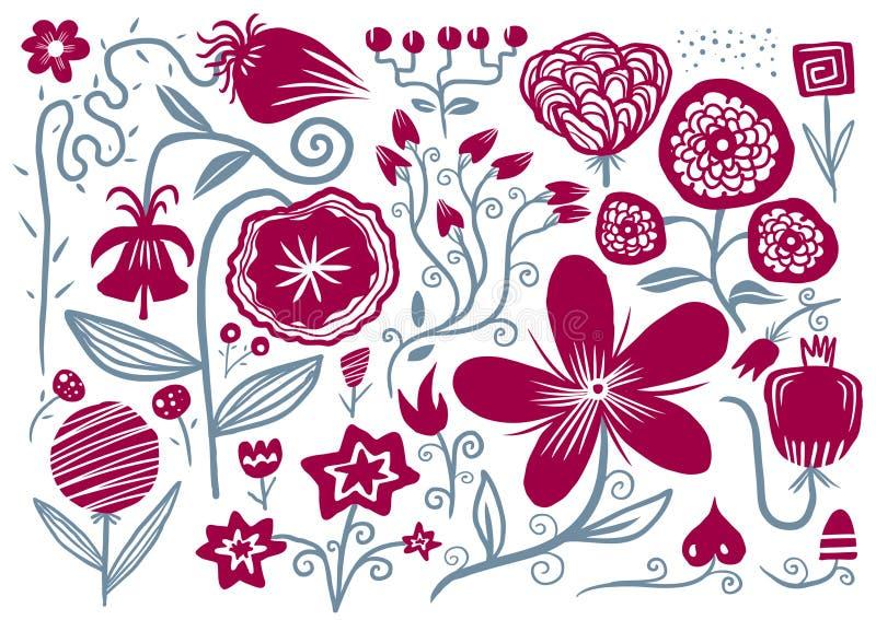 kwiat patroszona ręka royalty ilustracja