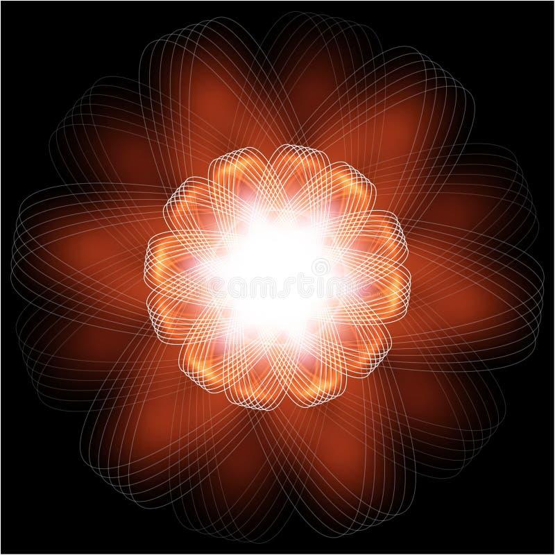 kwiat pożarnicza ilustracja obraz stock