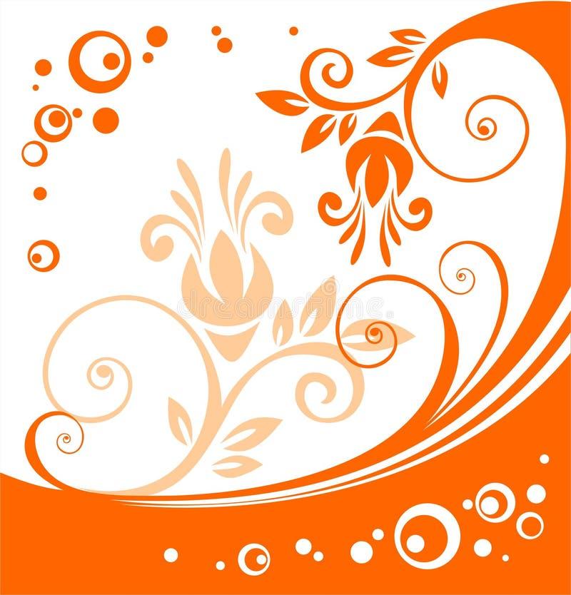 kwiat pomarańczy schematu ilustracja wektor