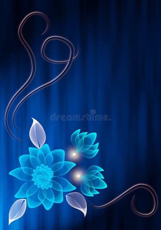 kwiat przejrzysty ilustracja wektor