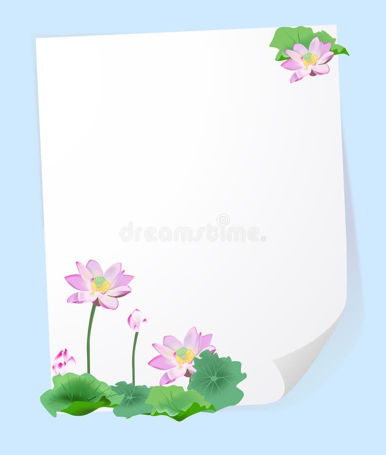 kwiat ramowy lotos royalty ilustracja