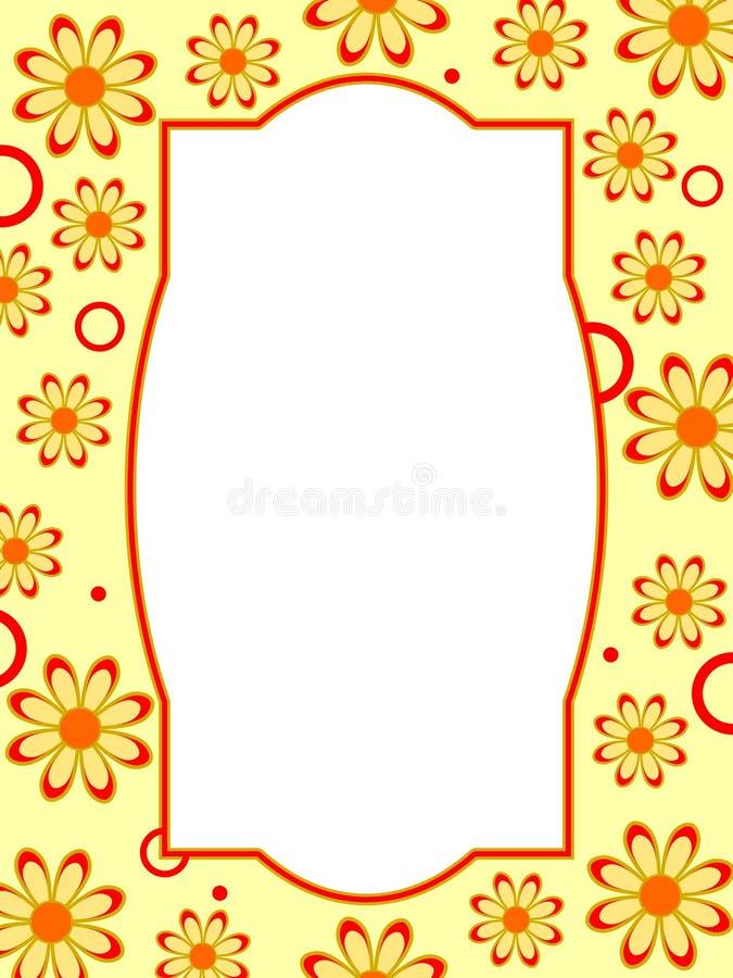 Kwiat retro Rama ilustracja wektor