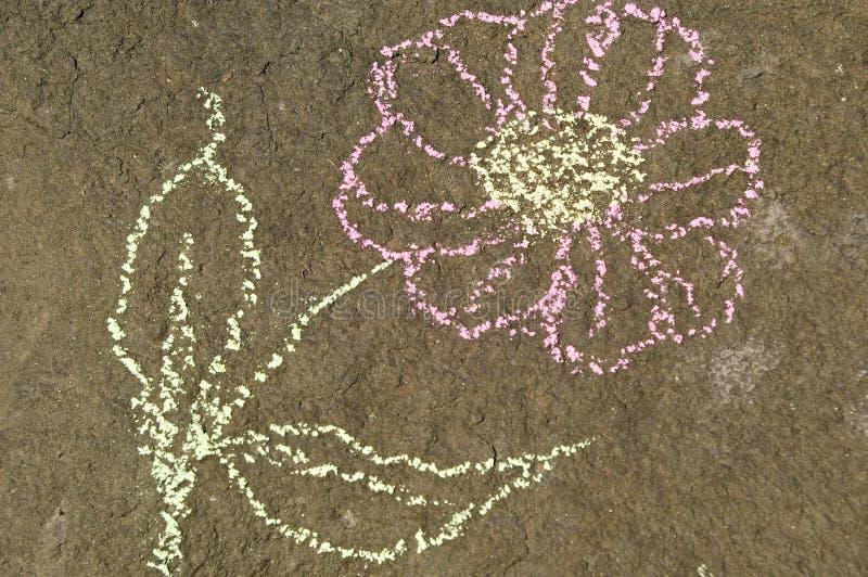 Kwiat rysujący kamień obrazy stock