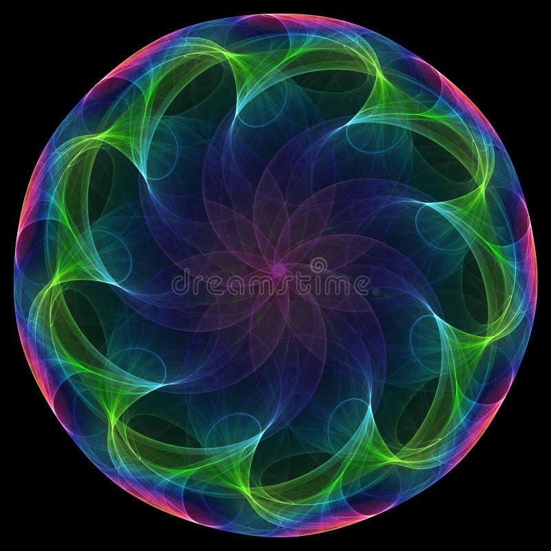 kwiat spirali royalty ilustracja