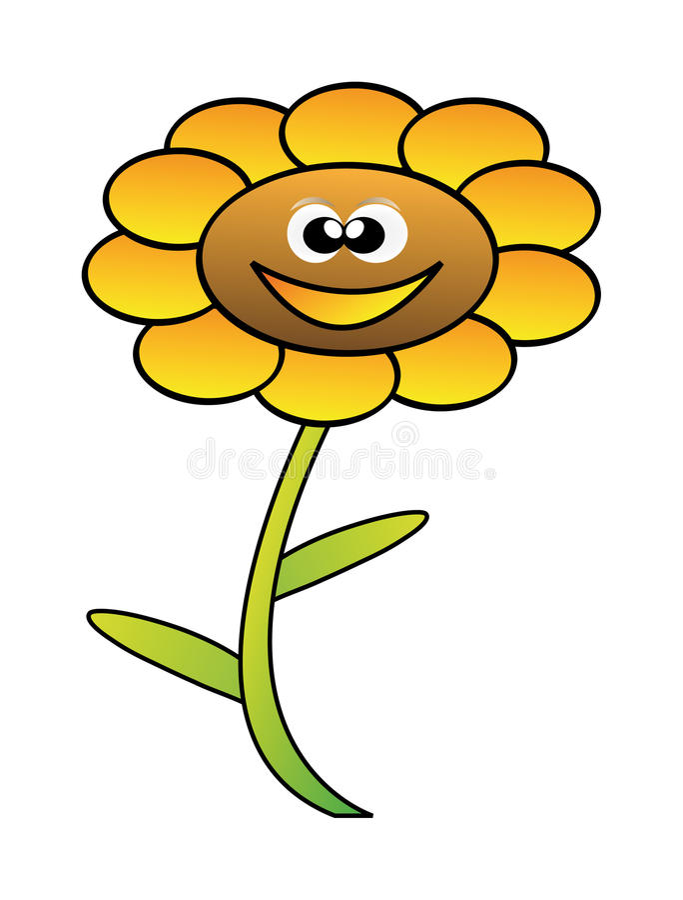 kwiat szczęśliwy ilustracja wektor