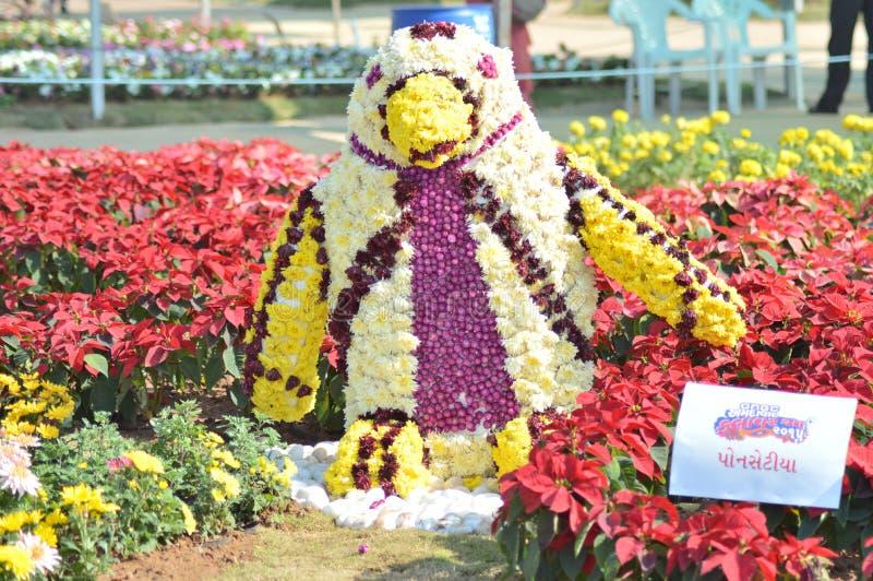 Kwiat sztuka - pingwin zdjęcia stock