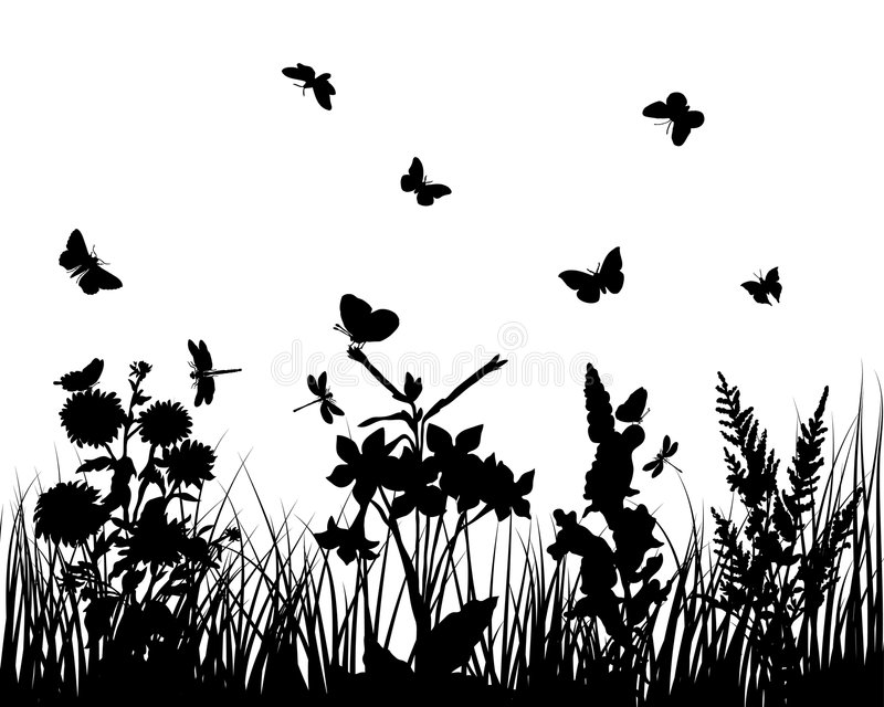 kwiat trawa royalty ilustracja