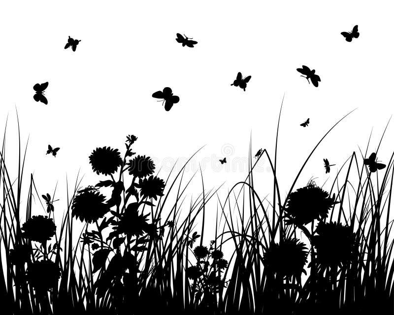 kwiat trawa ilustracja wektor