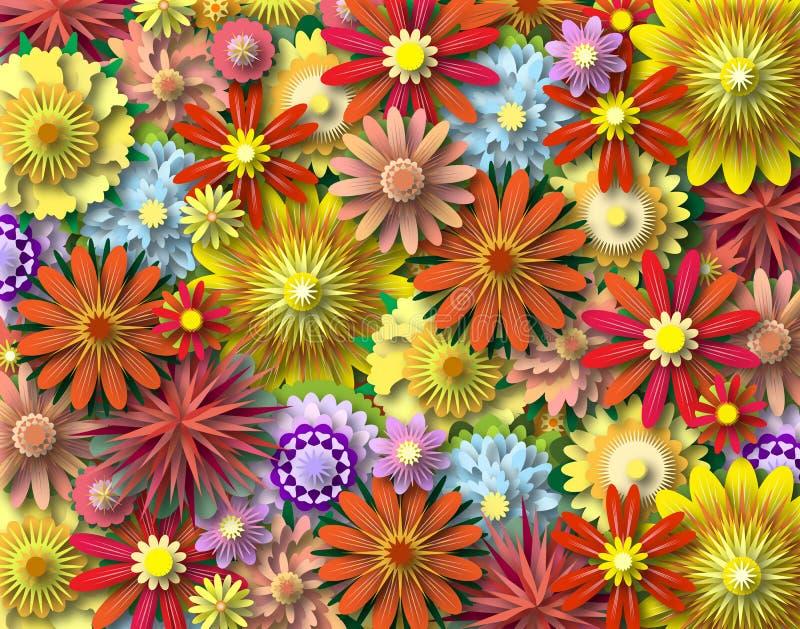 kwiat władza ilustracja wektor