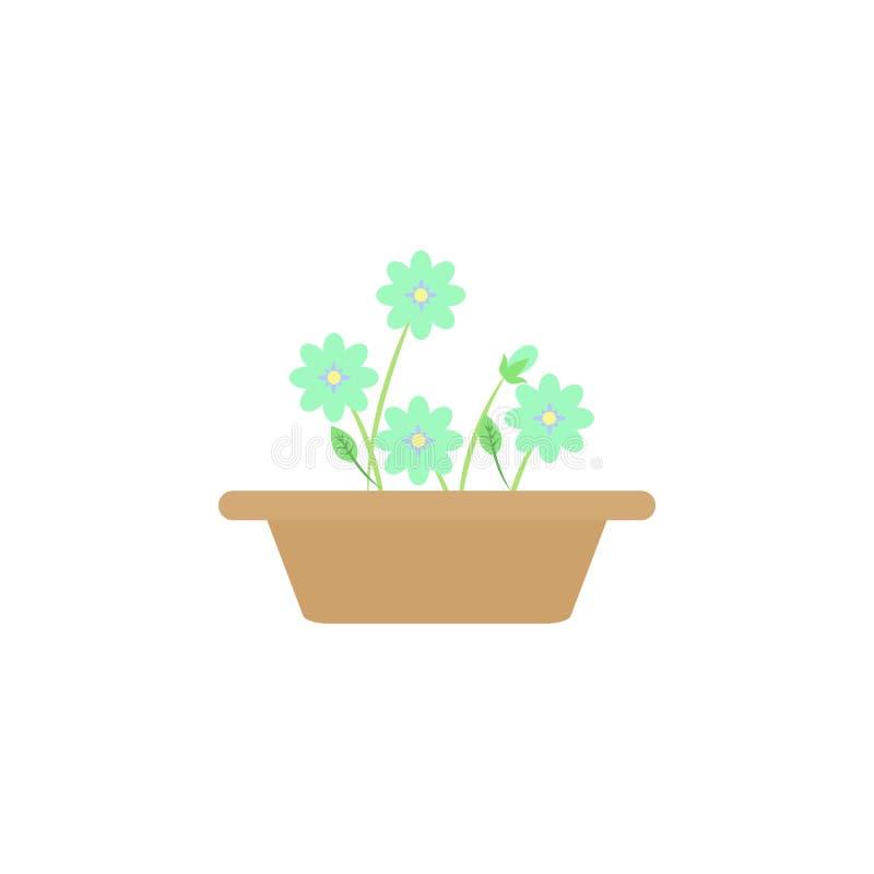 kwiat w garnek barwionej ikonie Element barwiona jesieni ikona dla mobilnych pojęcia i sieci apps Barwiony kwiat w garnek ikonie  ilustracja wektor