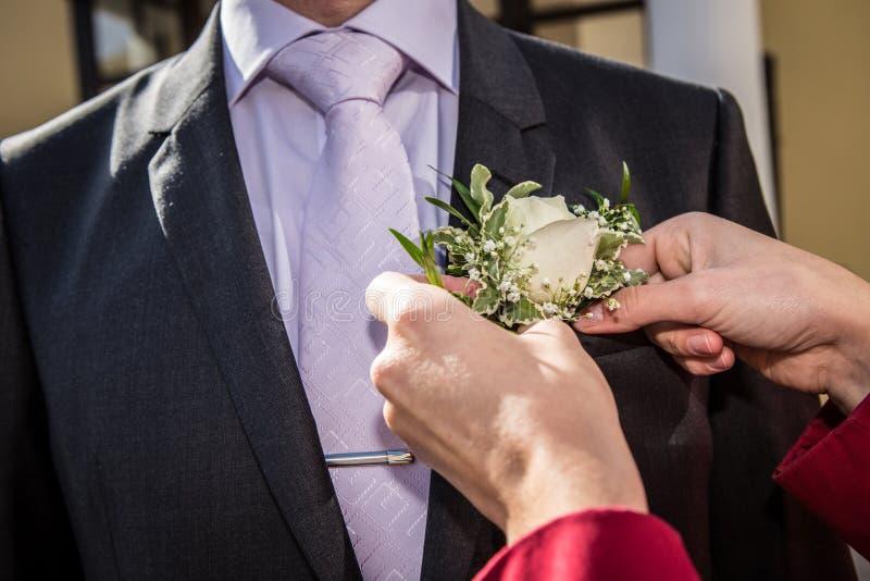 Kwiat w lapel zdjęcia stock