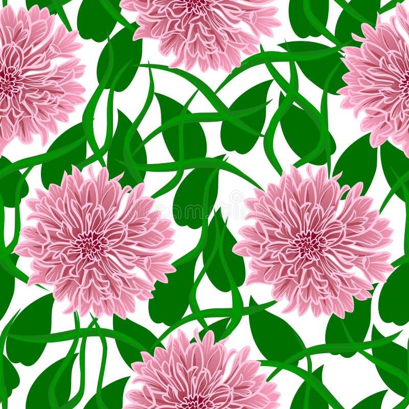 kwiat?w wzoru menchie bezszwowe ilustracja wektor