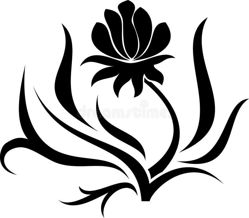 Kwiat wektorowa ilustracja royalty ilustracja