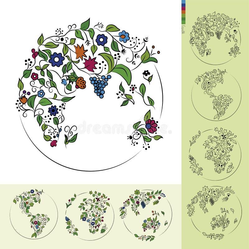 Kwiat ziemia obraz royalty free