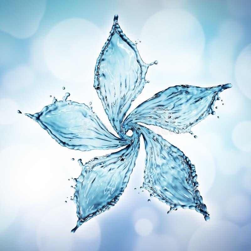 kwiat zrobił pluśnięcie wodzie royalty ilustracja