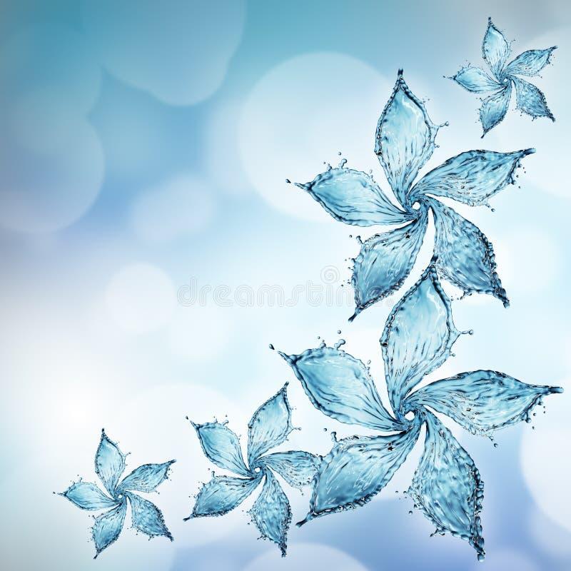 kwiat zrobił pluśnięcie wodzie ilustracji