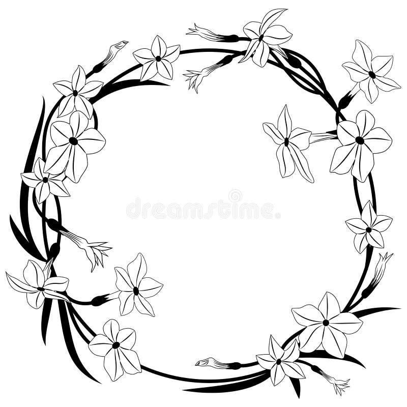 Kwiatonośnego tytoniu rama ilustracji