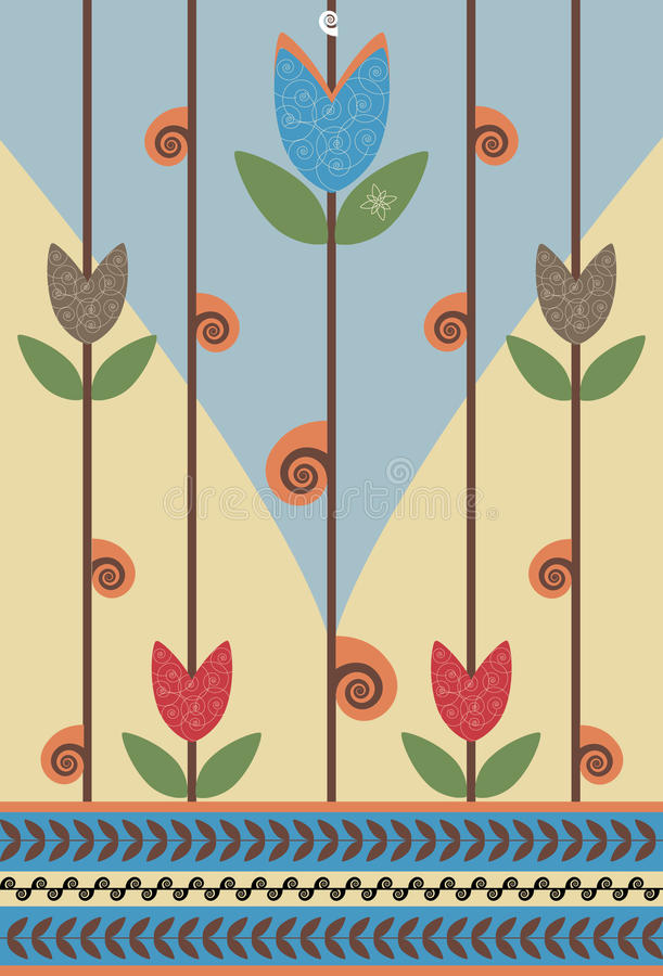 kwiatu ślimaczek royalty ilustracja
