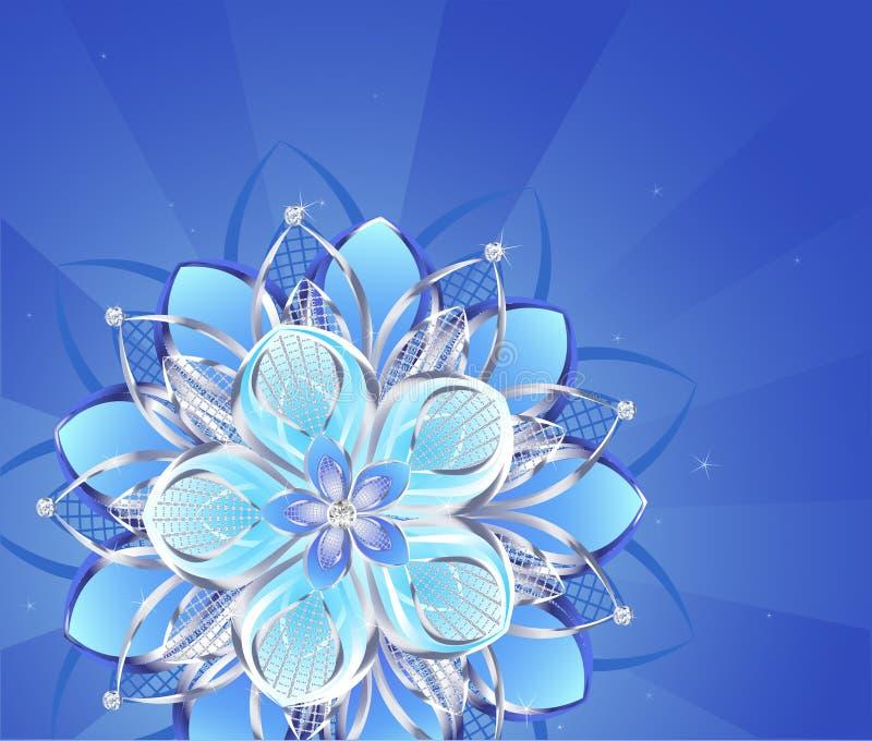 kwiatu abstrakcjonistyczny srebro ilustracja wektor