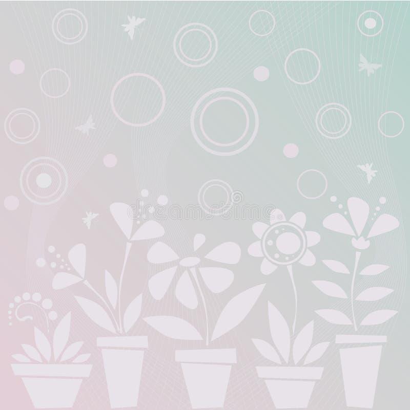 kwiatu błękitny światło ilustracja wektor