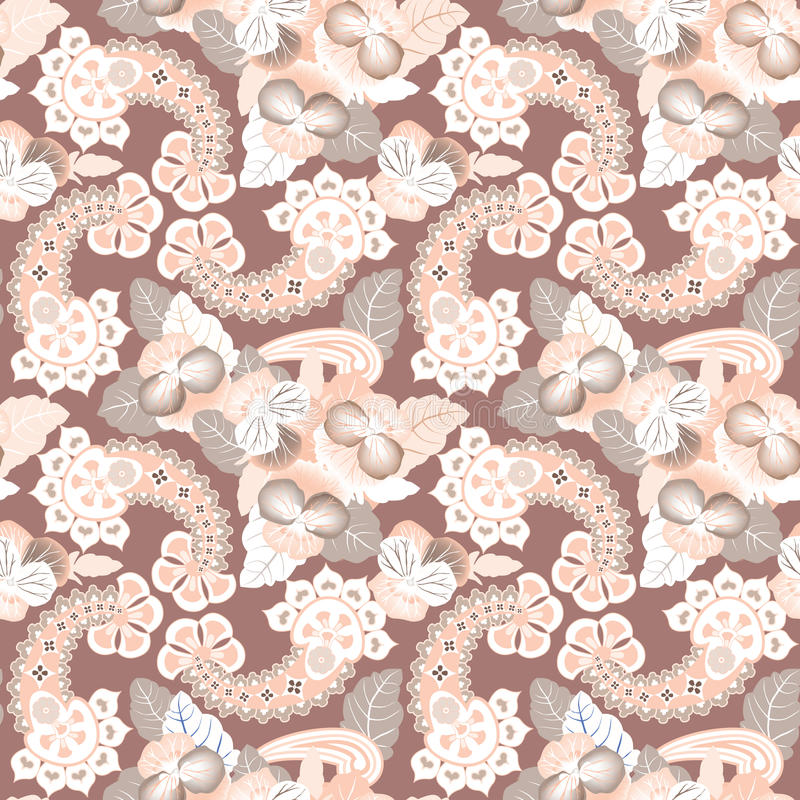 Kwiatu bezszwowy tło. Abstrakcjonistyczna ornamentu kwiatu lelui tekstura. ilustracja wektor
