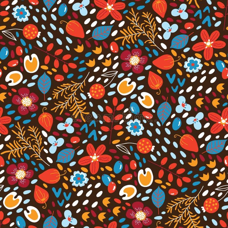 Kwiatu bezszwowy wzór ilustracji