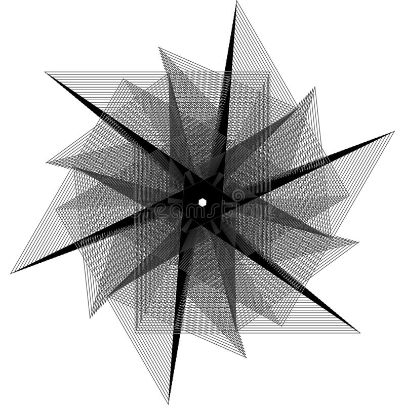 kwiatu 3d geometria natura p?atki i gwiazdy obrazy royalty free