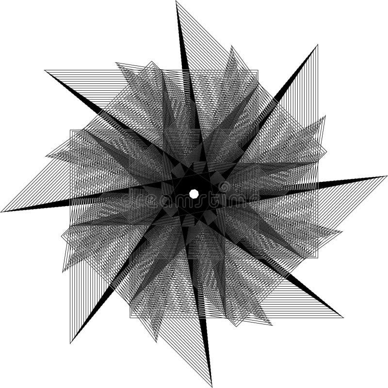 kwiatu 3d geometria natura p?atki i gwiazdy zdjęcia stock