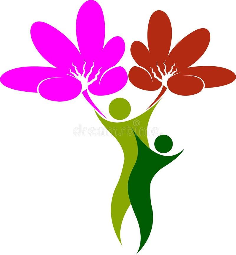 Kwiatu drzewny mężczyzna royalty ilustracja