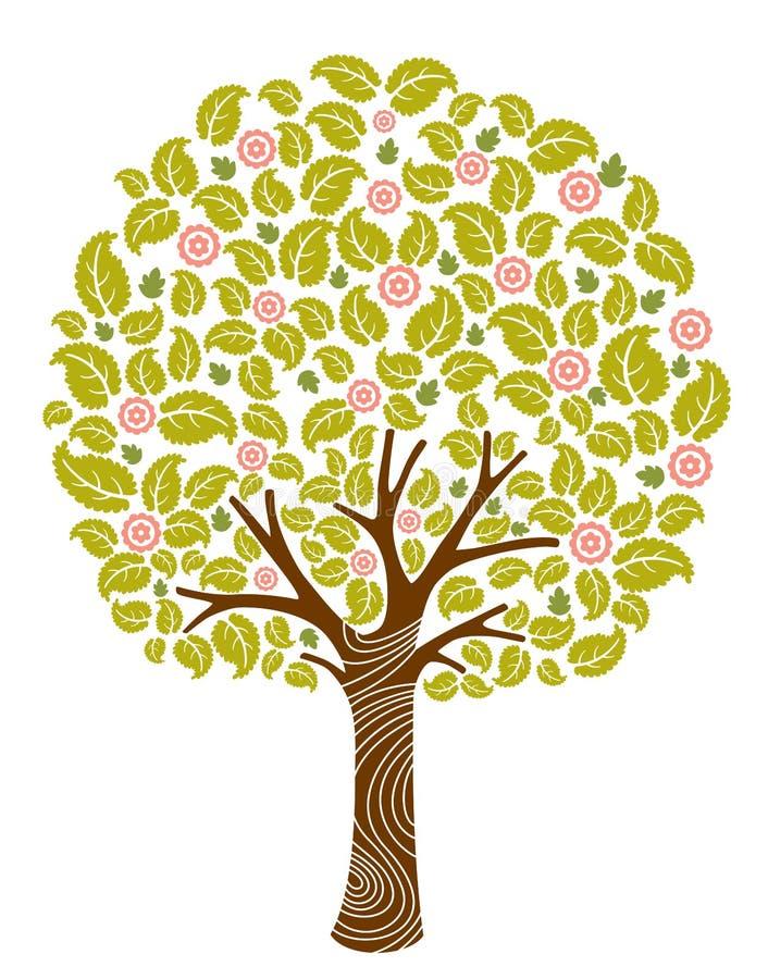 kwiatu drzewo ilustracji