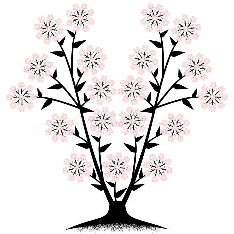 kwiatu drzewo ilustracja wektor