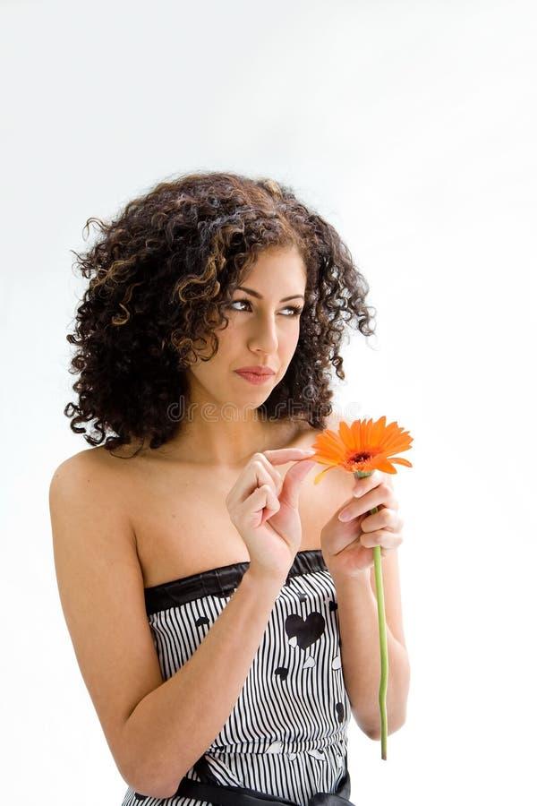 kwiatu dziewczyny potomstwa obraz stock