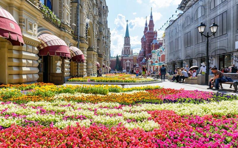 Kwiatu festiwal blisko dziąsła w Moskwa fotografia royalty free