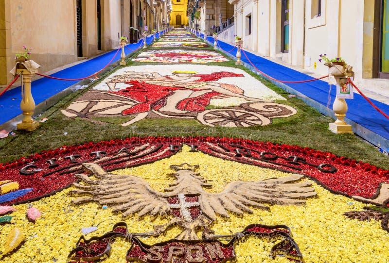 Kwiatu festiwal Noto w Sicily obraz stock