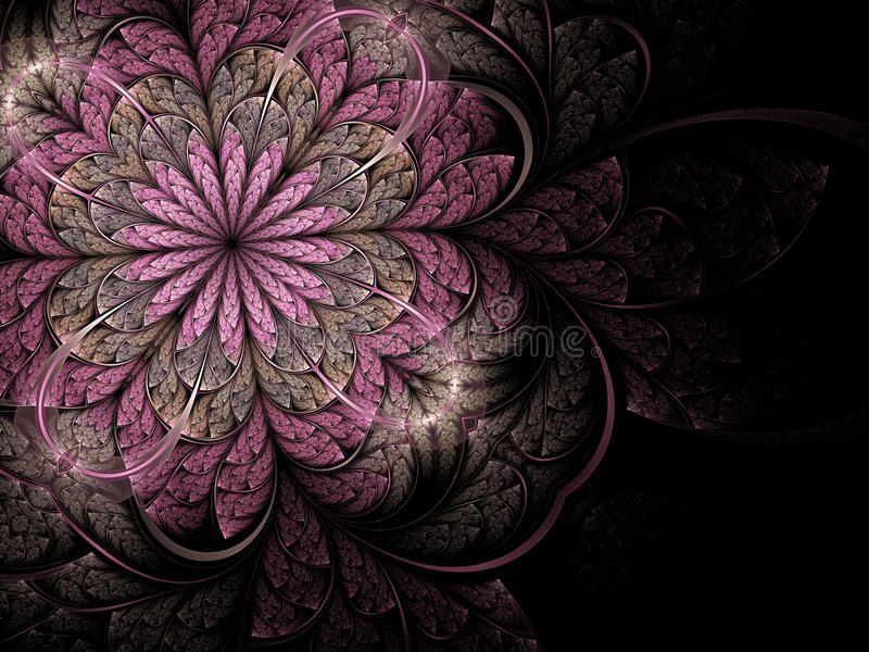 kwiatu fractal menchii miękka część ilustracja wektor