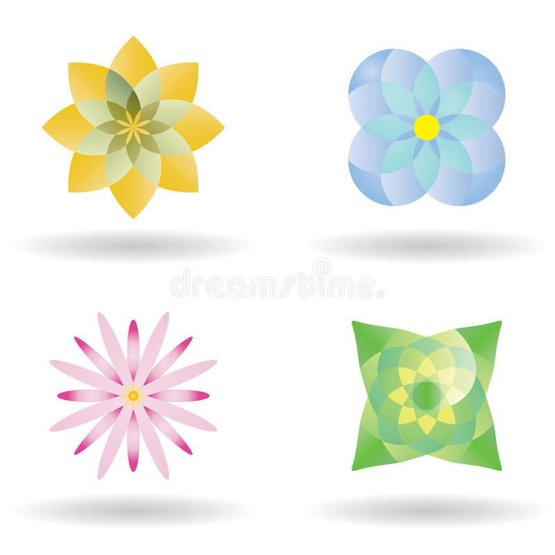 kwiatu ikony wektor ilustracja wektor