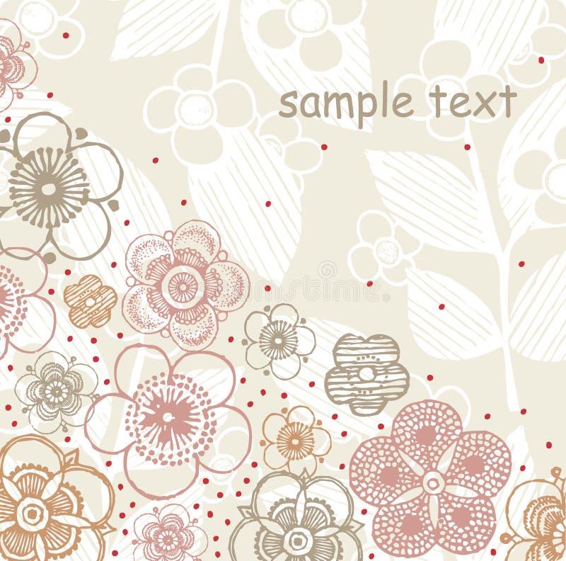 kwiatu ilustracyjny teksta wektor ilustracji